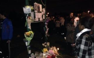 Tributes at the vigil
