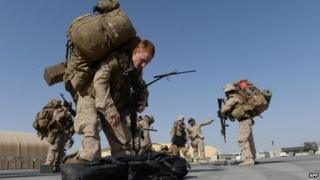 US marines in Kandahar, October 2014