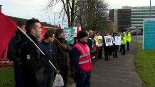 NHS picket line
