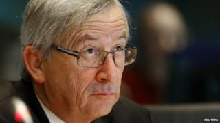 Luxembourg's then-Prime Minister Jean-Claude Juncker testifies before the European Parliament's Committee on Economic and Monetary Affairs in Brussels in this 10 January 2013