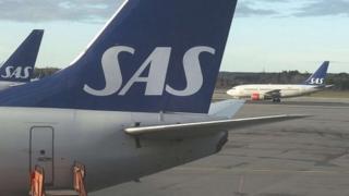 SAS Boeing 737 jet