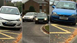 Cars parked outside Broke Hall Primary School in Ipswich
