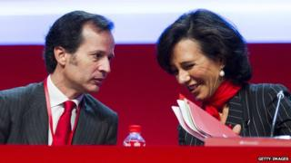 Ana Botin and Javier Marin