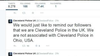 Cleveland Police post