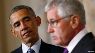 President Obama and Chuck Hagel