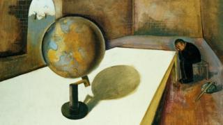Felix Nussbaum, Der Flüchtling (1) (Europäische Vision) [The Refugee 1] [Vision of Europe], 1939