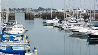 Boats in the QEII Marina, in St Peter Port, Guernsey