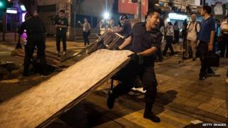Police officials, acting on court orders, have cleared some protest sites