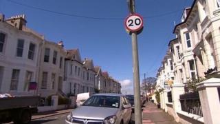 20mph zone in Brighton