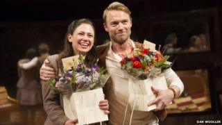 Ronan Keating with Once co-star Jill Winternitz