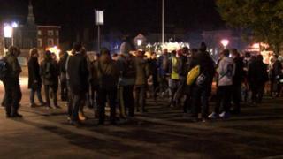 Skateboarders' protest