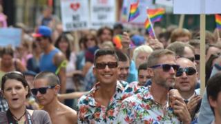 Gay rights protestors