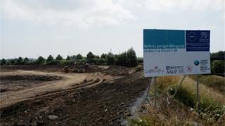 Part of the Lower Swansea Valley flood scheme