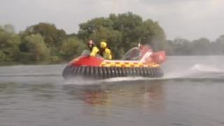 Hovercraft owned by Gloucestershire Fire and Rescue