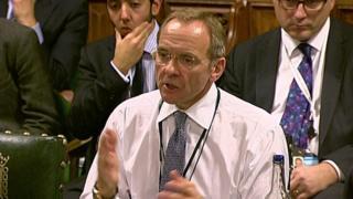 John Manzoni addressing MPs