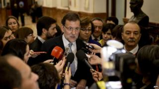 Mariano Rajoy in Madrid (26 Nov)