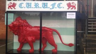 Red lion at Cambridge University Rugby Club