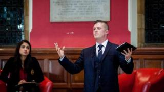 Tommy Robinson at the Oxford Union