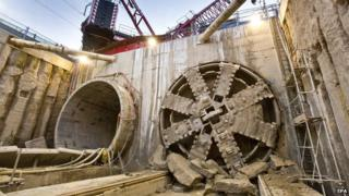Crossrail tunnel boring machine