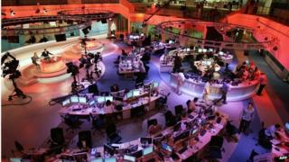 Al-Jazeera newsroom in Doha (file photo)