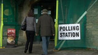 Polling station, Malmesbury