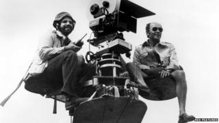 Frank Yablans (r) with director Brian de Palma