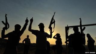 Jihadist fighters in Syria in June 2012