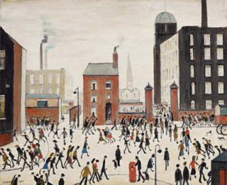 Lowry - Mill scene