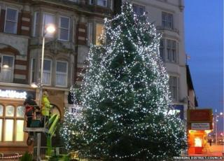 Clacton's 2014 Christmas tree