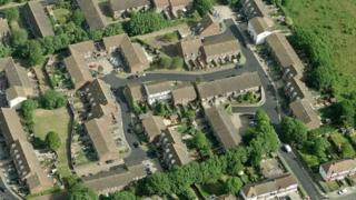 aerial view of Lonsdale Close in Lewisham