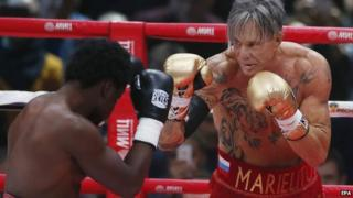 Mickey Rourke and Elliot Seymour fight