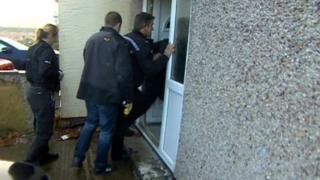 Police raid Wiltshire house