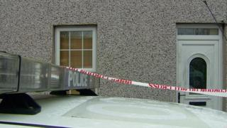 Scene after burglary at house in Ballymena