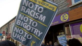 UKIP shop protest