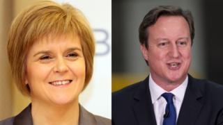 Nicola Sturgeon and David Cameron