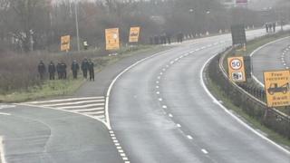 Police patrol A1 roadside