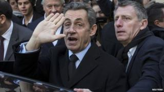 Nicolas Sarkozy after voting - 29 November