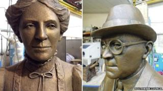 Ada and Alfred Salter statues