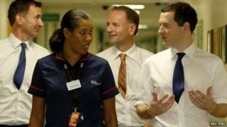 George Osborne visiting Homerton University Hospital on 30 Nov