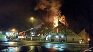 Fire at St Paul's Church