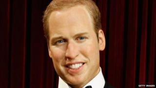 The wax statue of Prince William