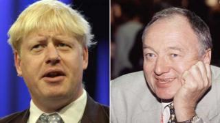 London Mayor's Boris Johnson and Ken Livingstone