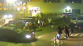 Screen grab of CCTV footage showing attack on Ms Albayrak