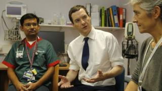George Osborne visits a hospital in London