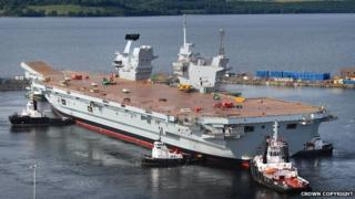 HMS Queen Elizabeth at Rosyth Dockyard