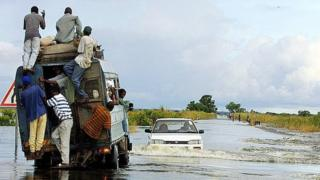 Mozambique floods aftermath in 2001