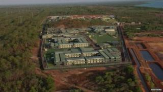 Aerial view of Wickham Point Detention Centre, from footage made available on 1 December 2014