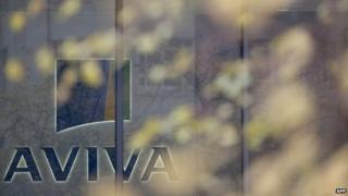 "British insurance giant Aviva""s headquarters in London"
