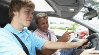 Leaner driver with instructor