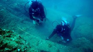 Searching for wrecks off Vietnam